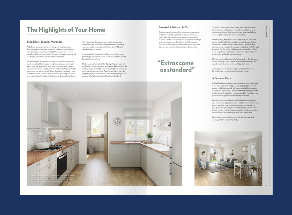 freelance copywriting work for Belfield Developments